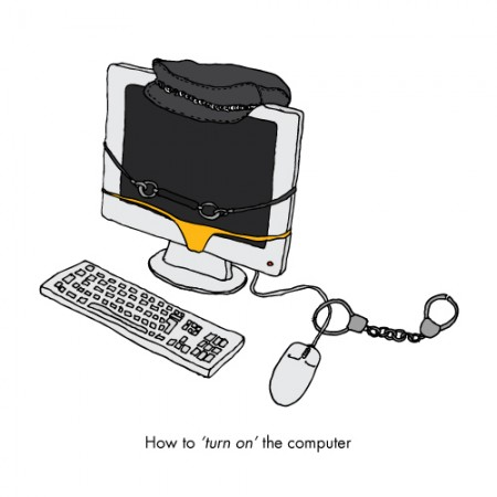 How to turn on the computer